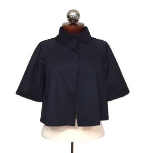 THEORY cropped funnel neck swing jacket 4